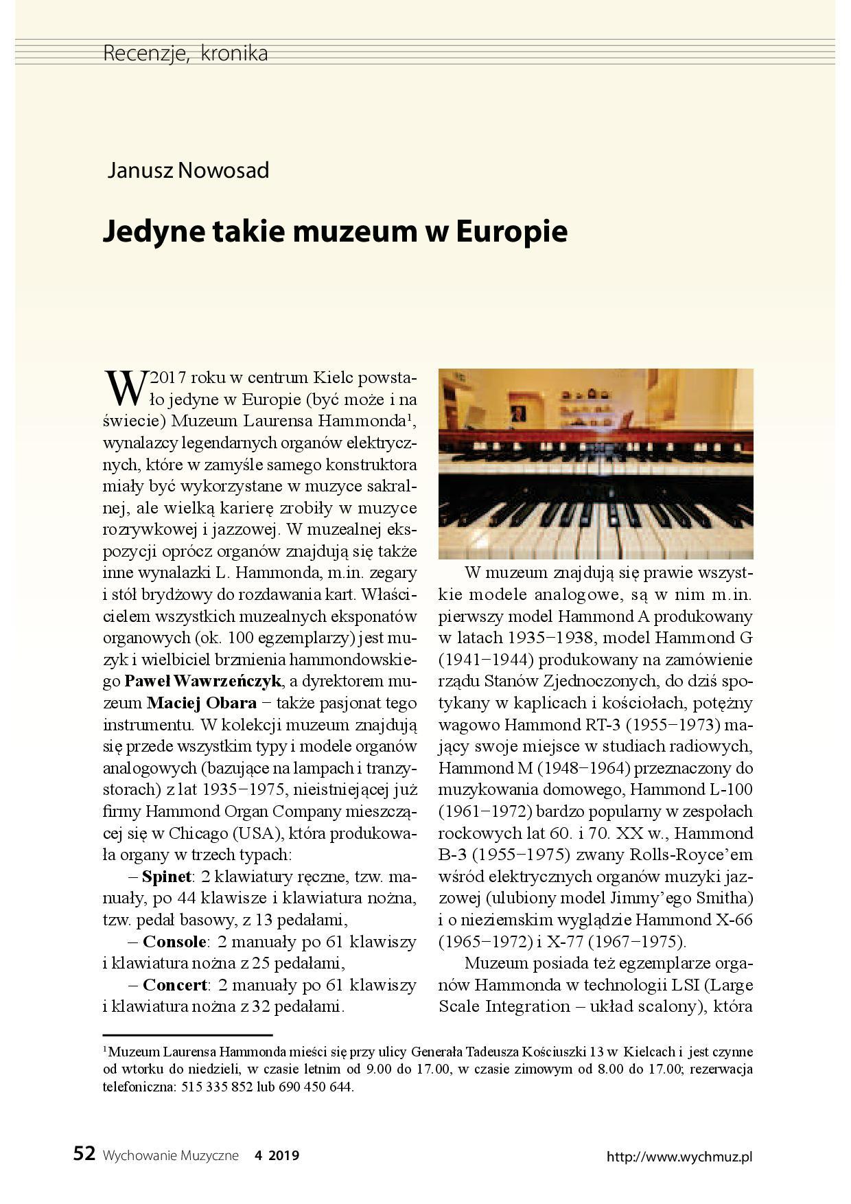 Jedyne takie muzeum w Europie