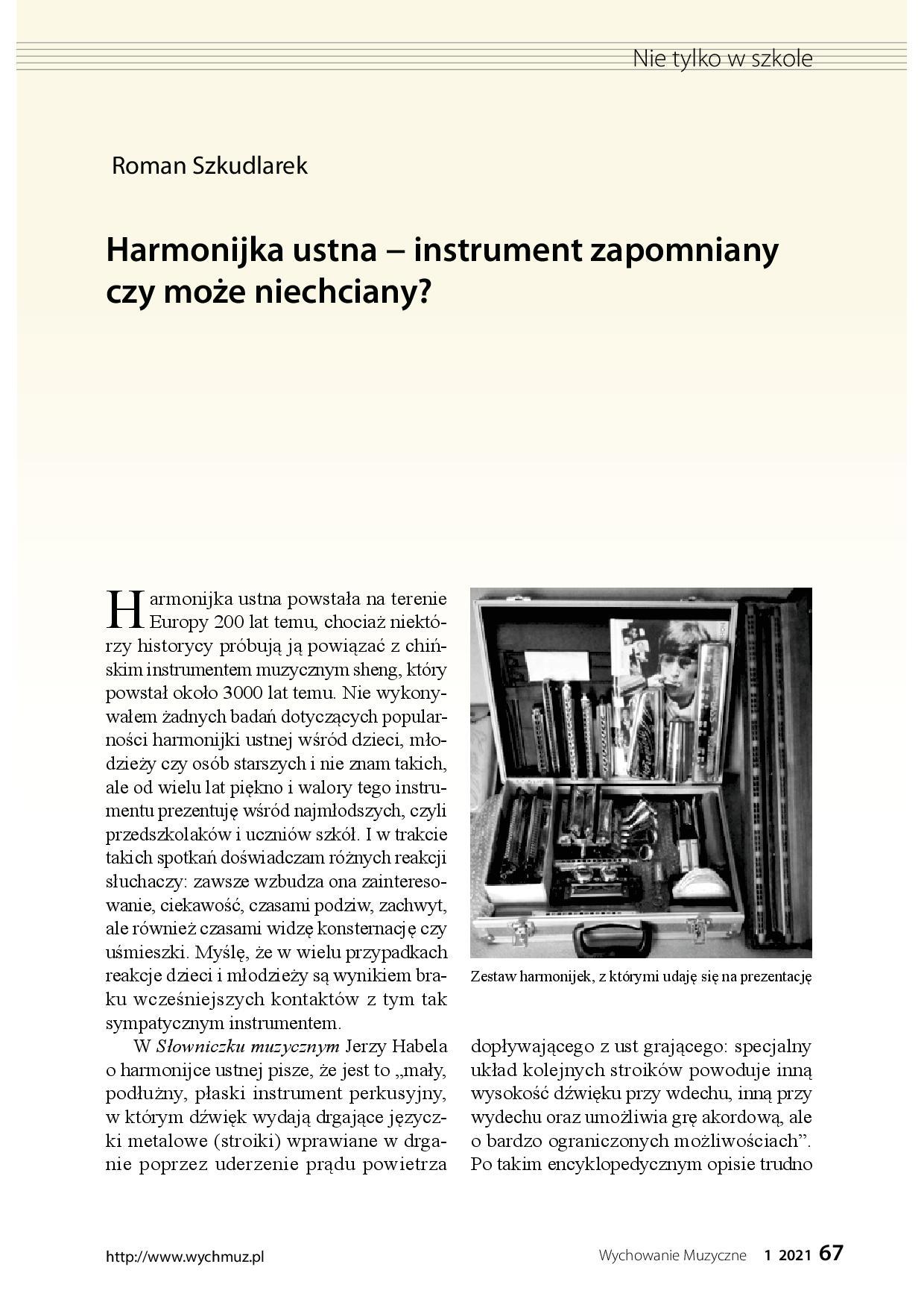 Harmonijka ustna − instrument zapomniany czy może niechciany?
