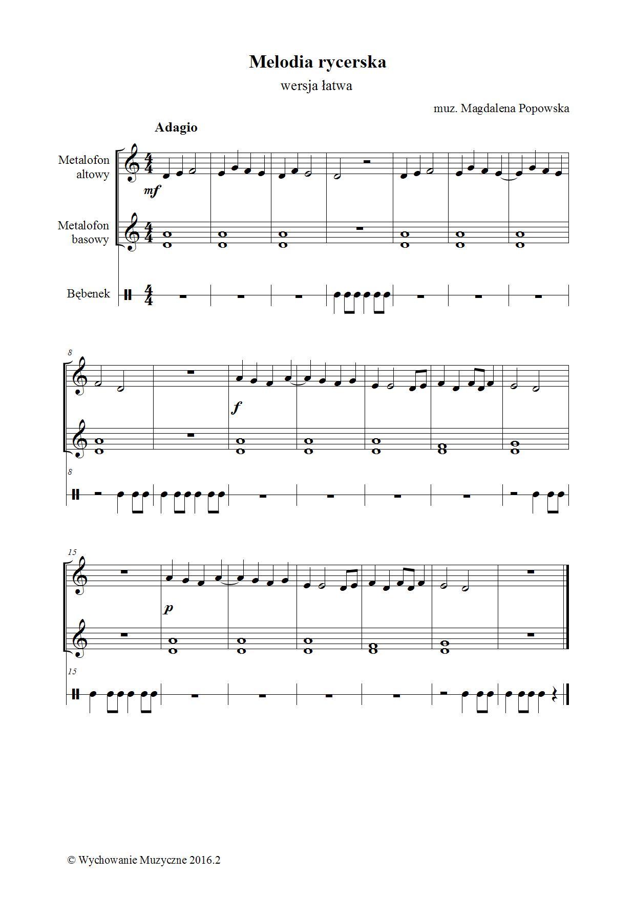 Melodia rycerska I
